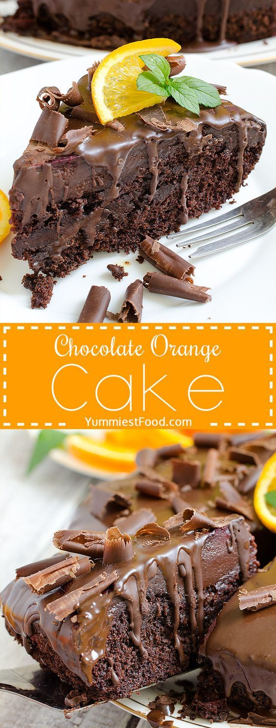 Chocolate Orange Cake - Real chocolate madness and perfect cake for chocolate lovers! Chocolate Orange Cake is moist, rich, flavorful, delicious and simply gorgeous!