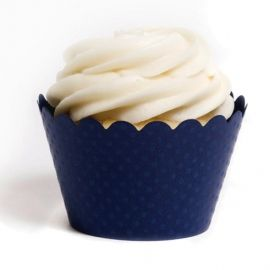 Navy Cupcake Wrappers & Navy Blue Cupcake Liners | Dress My Cupcake