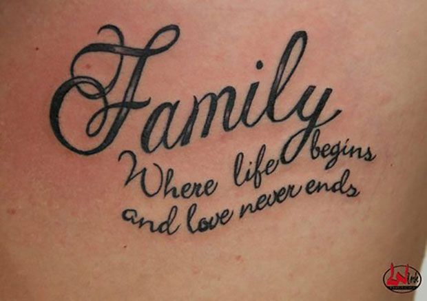 family background tattoos