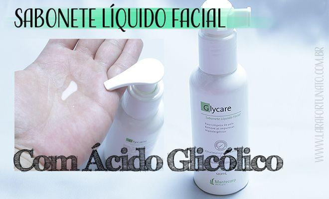 Sabonete Líquido Facial com Ácido Glicólico menos oleosidade facial – Glycare