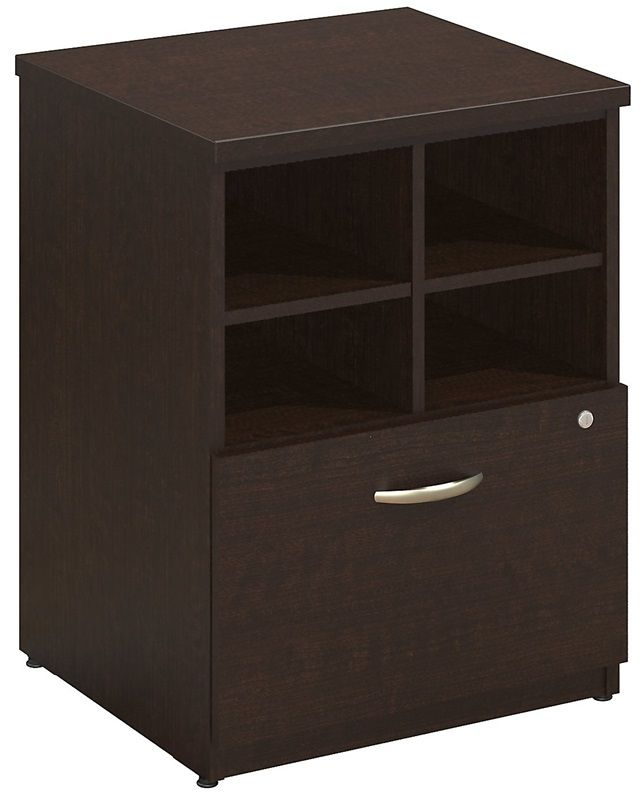 Assembled Pedestal Piler and Filer with Cubby Storage