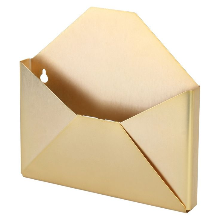 The Threshold Brass Wall Envelope Organizer Is To Organize And Keep In Handy Your Own Envelopes It Holds All Mail Organizer Wall Gold Envelopes Mail Organizer