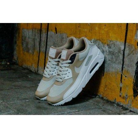 quality design b029b fe5d0 Acheter Chaussures Sport Nike Air Max 90 Ultra 2.0 Essential Gris pâle Kaki  Blanc France Boutique