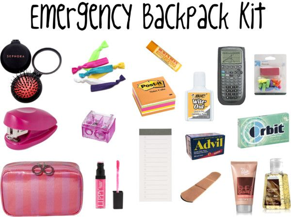 Preppy Premed: Emergency Backpack Kit + Pencil Pouch Organization...