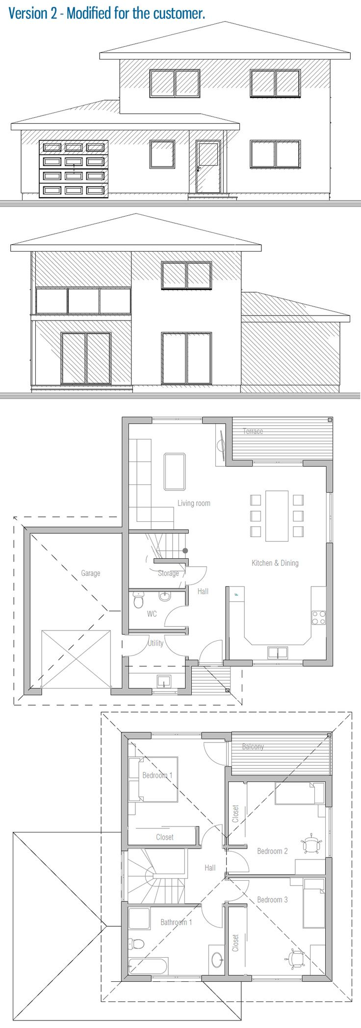 House design small house ch237 41