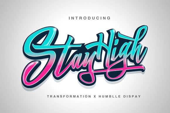 Stay High + Swash by Dirtyline Studio on Creative Market