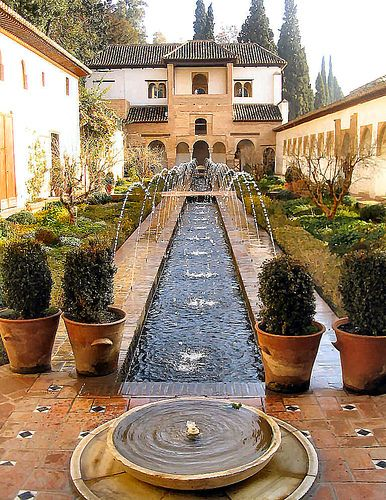 Alhambra, Granada, Spain. Visited several times, never enough! Fascinating Spanish & Moorish history, including when Washington Irving lived there!