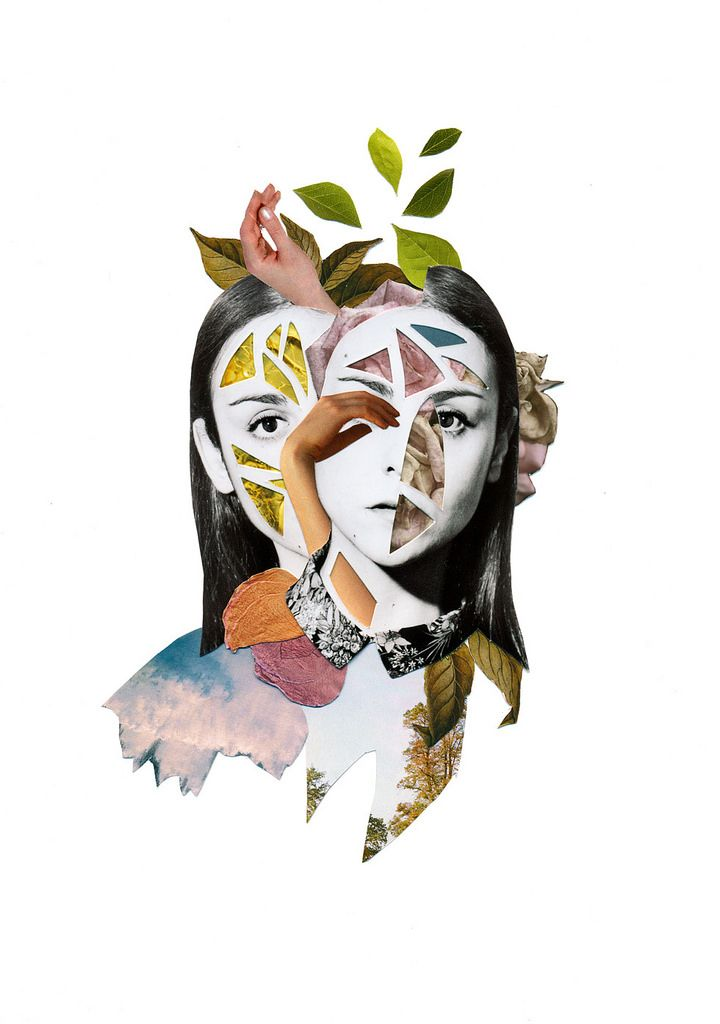 Art, Collage,by Rocio Montoya, http://rociomontoya.com / Embodied <3