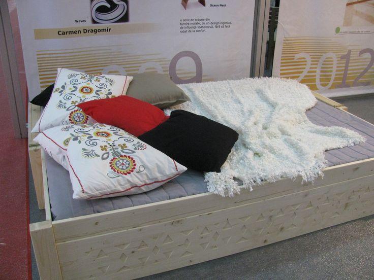 Made by A I T O, Bucharest - Romania Swedish bench  Designer: Anamaria Bica and Ina Pop https://www.facebook.com/ladesignarie?fref=ts