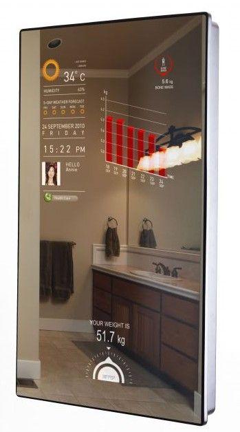 Miroir interactif cybertecture robo pinterest for Miroir interactif