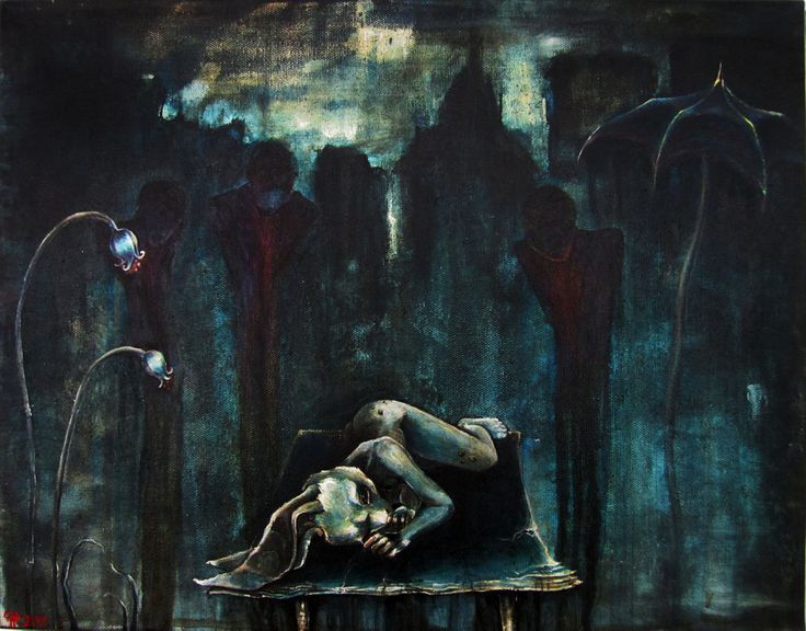 Observers, acrylic on canvas 14.01.2013, by Gemma Proebst