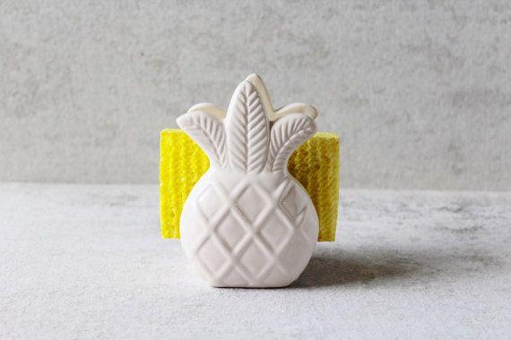 Pineapple Sponge Holder - Pineapple Napkin Holder - Pineapple Decor - Pineapple Kitchen