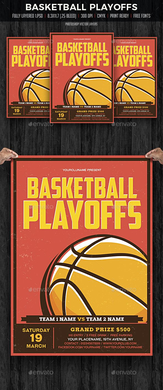 Basketball Playoffs — Photoshop PSD #basketball tournament #basketball playoffs • Download ➝ https://graphicriver.net/item/basketball-playoffs/19696331?ref=pxcr
