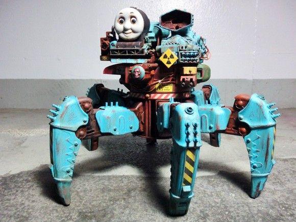 トーマスとタチコマが完全合体!殺戮マシーンと化した「多脚機関戦車トーマス」から目が離せない! : カラパイア