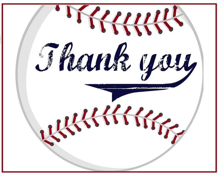 Baseball Thank you Cards.