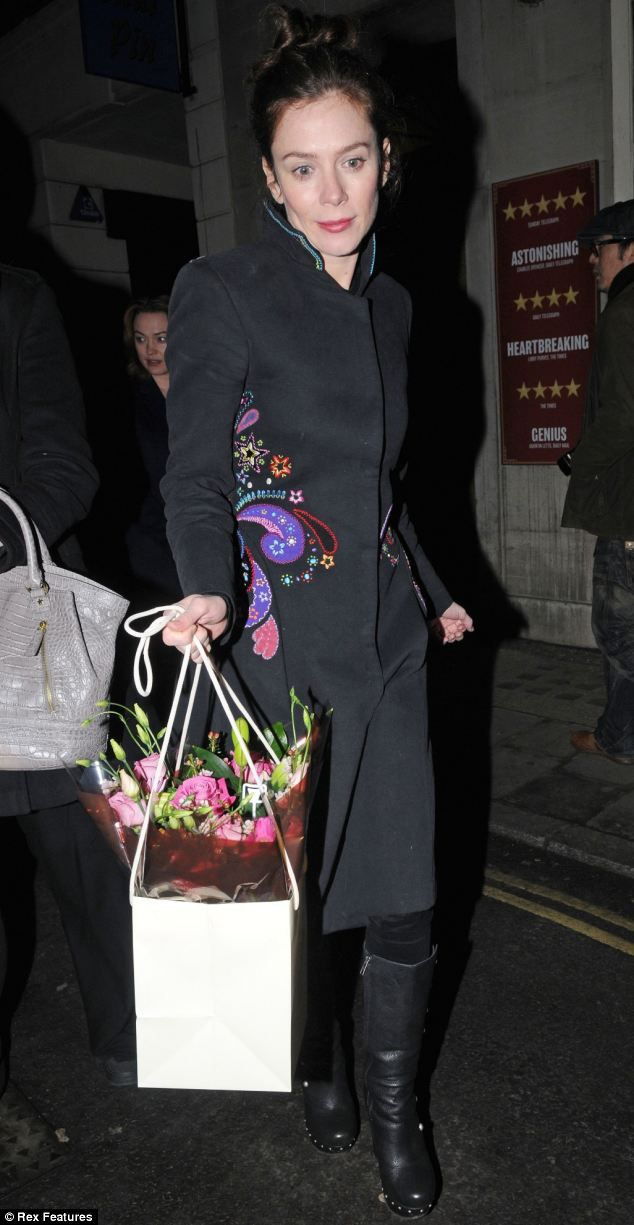Effortless: Anna Friel has been seen in a number of stylish outfits during her stint in the West End