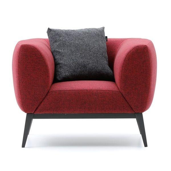 blue nuevo fabric seat single sofa gabriel in navy couch