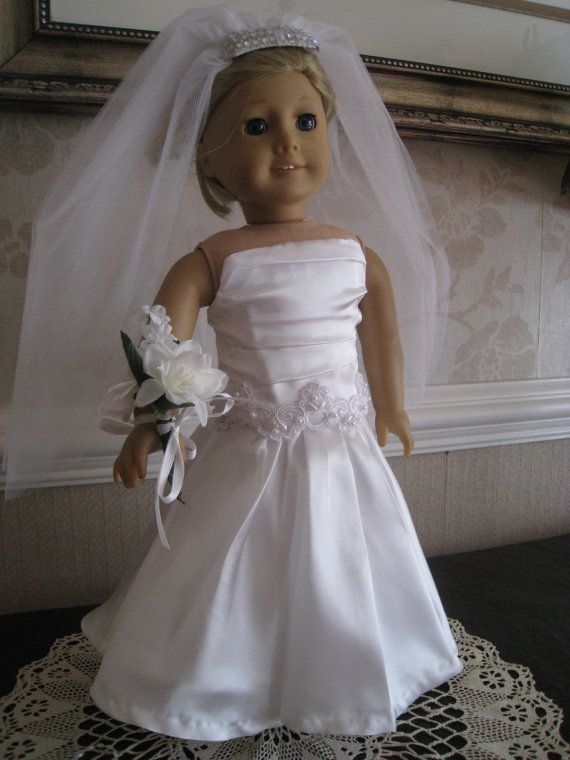 17 best images about american girl doll wedding strapless for American girl wedding dress