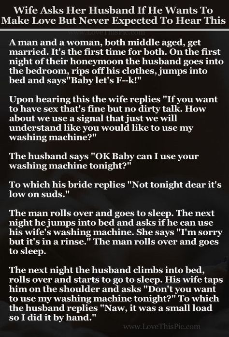 Wife Asks Her Husband If He Wants To Make Love But Never Expected To Hear This... funny jokes story lol funny quote funny quotes funny sayings joke hilarious humor stories marriage humor funny jokes