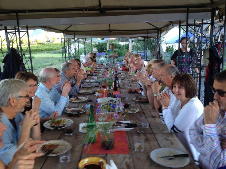 Mary Slavin event at Rabbit Hollow in West Kelowna Farm Loop