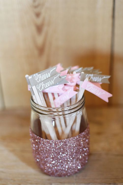 DIY glitter jar tutorial! Cute for putting gifts in :)