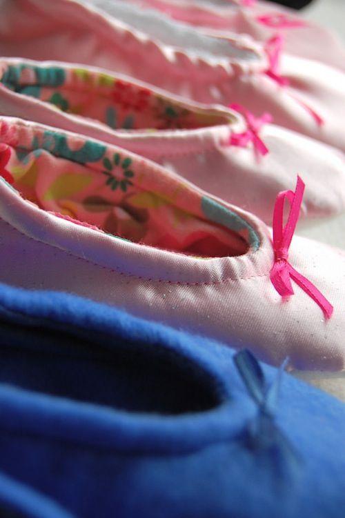 Ballet Slippers DIY Sewing Tutorial    coatsandclarksewingsecrets.com -- I wonder if it'd work for adult-sized shoes...