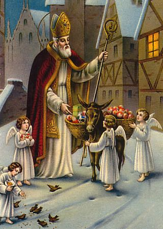 St. Nicholas story  If you have a child who thinks you lied to them and gets upset when they find out santa isn't real tell them about the Real St. Nick that santa's based on.