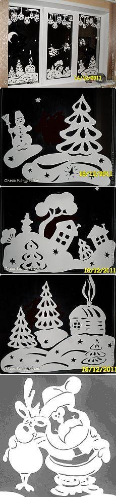 Вырезание - Ура Наши окна готовы Новый год встречать » Поиск мастер классов, поделок своими руками и рукоделия на SearchMasterclass.Net