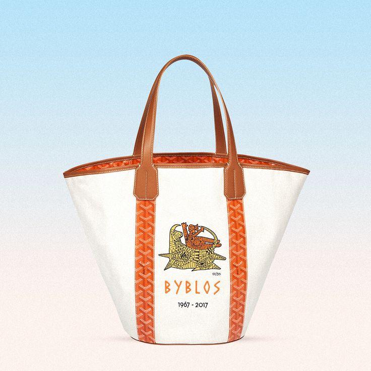 "GOYARD ""Maison Goyard is proud to introduce the Byblos Bag"""