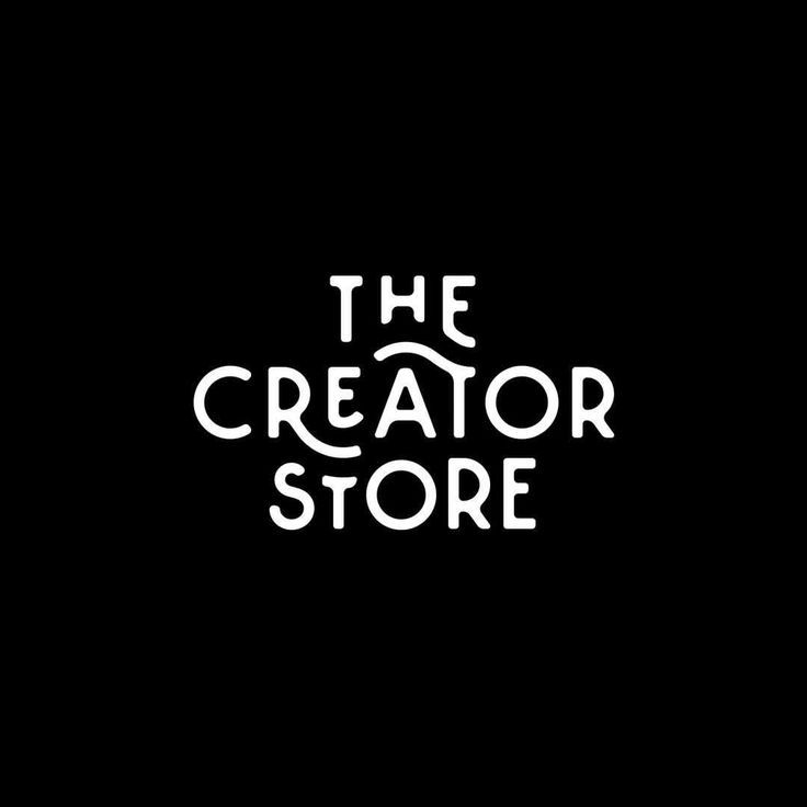 the creator store logo by Mark van Leeuwen beautiful typography logo custom swashes black and white sans serif font