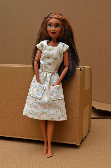 #vpp4 Dress for Barbie inspired by a seventies pattern. http://hofficoffi.blogspot.co.uk/2015/12/the-thing-is-ive-googled-it-since-and-i.html
