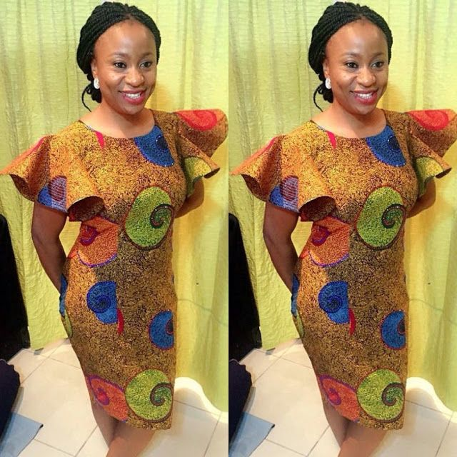 Ankara Short Simple Gown Style http://www.dezangozone.com/2016/03/ankara-short-simple-gown-style.html