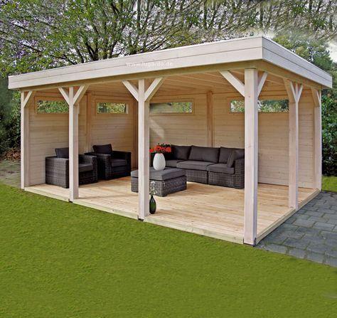 Ein offenes Gartenhaus wird zum Wow-Faktor: als stilvolle Lounge, für entspannte Kaffeekränzchen oder als offene Werkstatt? Lassen Sie Ihrer Kreativität freien Lauf und lassen Sie sich unter www.lugarde.de/inspiration inspirieren – Sue
