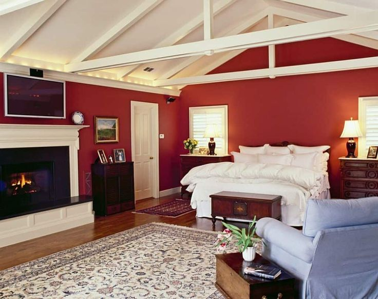 Bold Red Bedroom Color
