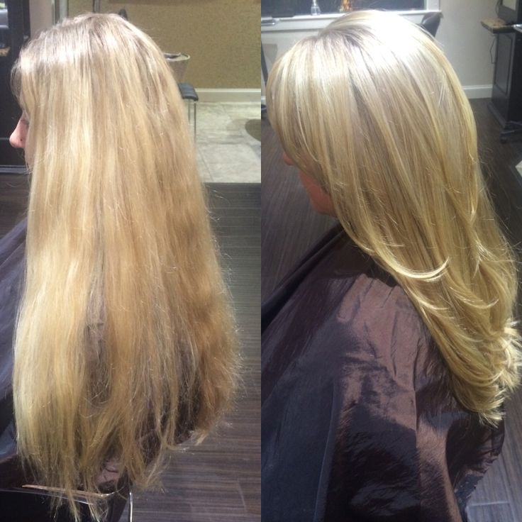 Long Blonde Hair | Platinum Blonde Highlight | haircut color style By: Vanessa Nelson  #eufora