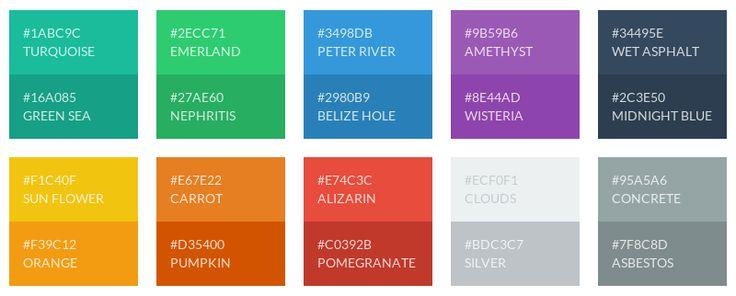 Flat UI Color Palette