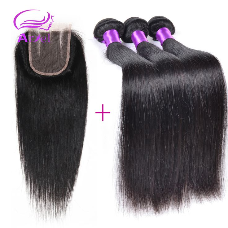 6a Brazilian Straight Hair With Closure Virgin Brazilian Straight Hair Lace Closure With 3pcs Bundles Brazillian Straight Hair