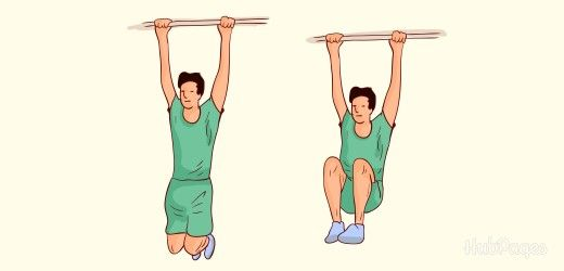 Gain inches with the hanging exercise