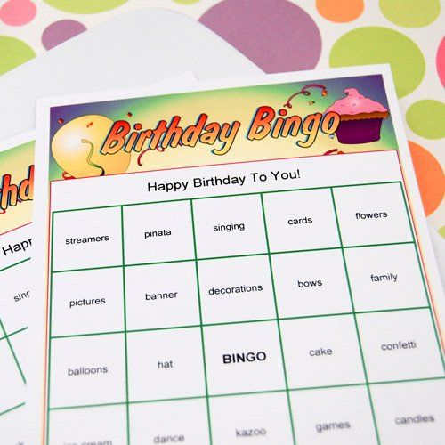 Personalized Birthday Bingo Game Kids Party GamesFun