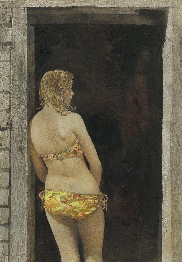 "Ott Art | intothekiva:  ""The Bikini "" - Andrew Wyeth  ca:..."