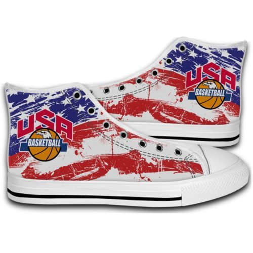 USA Basketball Kyrie Irving New Canvas Mens & Women's Shoes