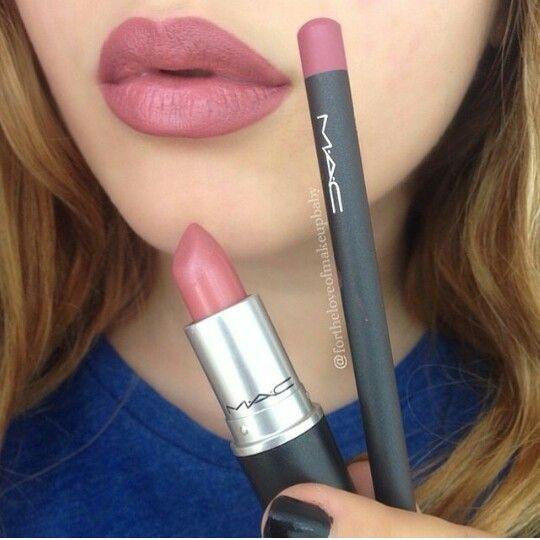 """brave"" lipstick and ""solar"" lipliner"