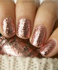 If I could paint my nails without it looking like a kindergarten art project gone horribly wrong, this is what I would do.  Rose gold nail polish!