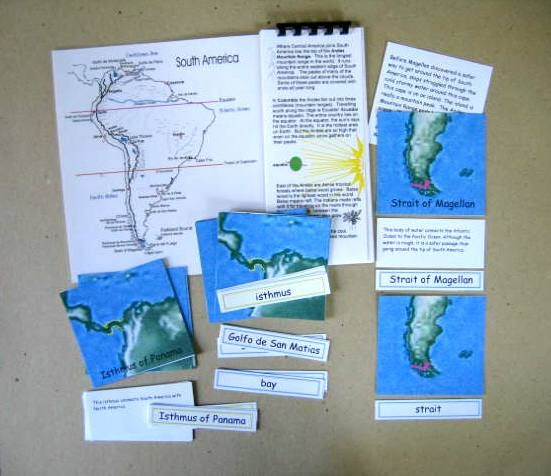 Matching cards for the geography of the continents of Africa & South America.