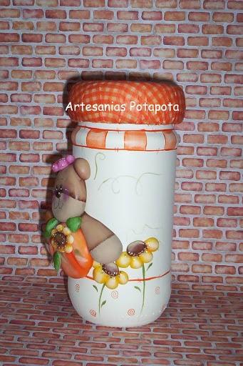 Frascos decorados - 114597756605161109737 - Álbumes web de Picasa