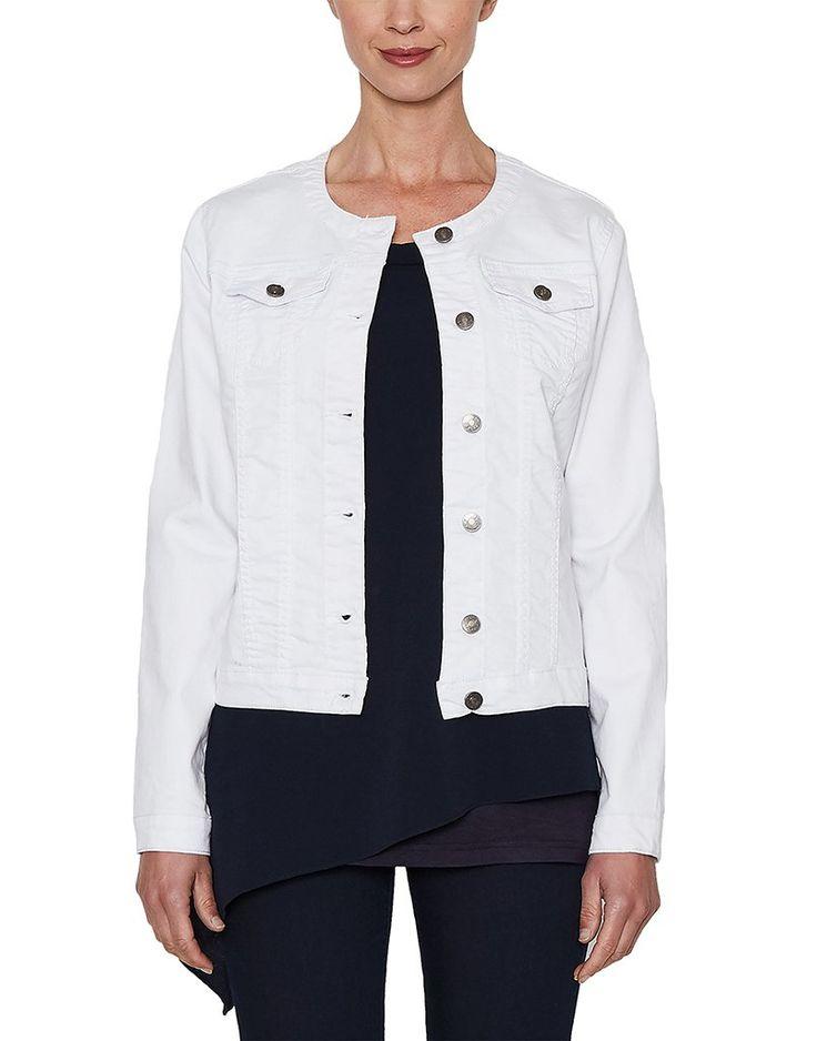 Threadz - White Denim Lace Up Jacket