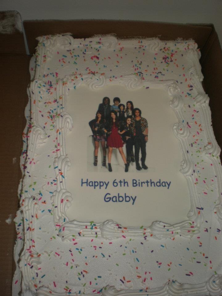ice cream cake with edible image