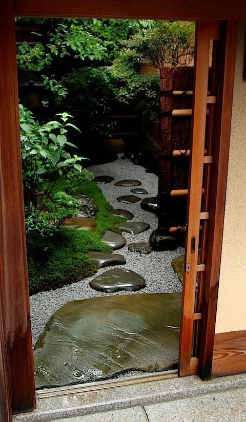 Small courtyard garden. Looks like the path might lead somewhere but could be illusion