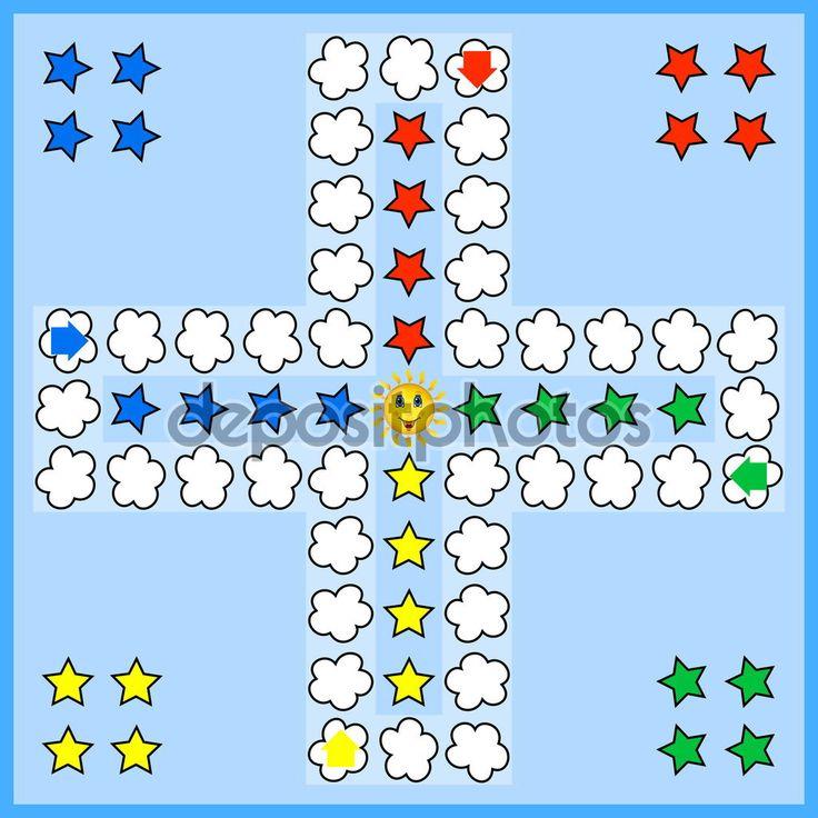 Gra planszowa Chińczyk — Ilustracja stockowa #92396426