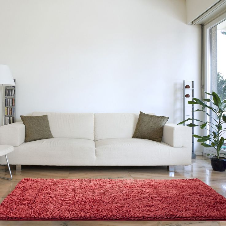 High Pile Coral Area Rug